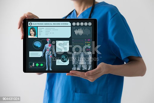 istock Electronic medical record concept. 904431024