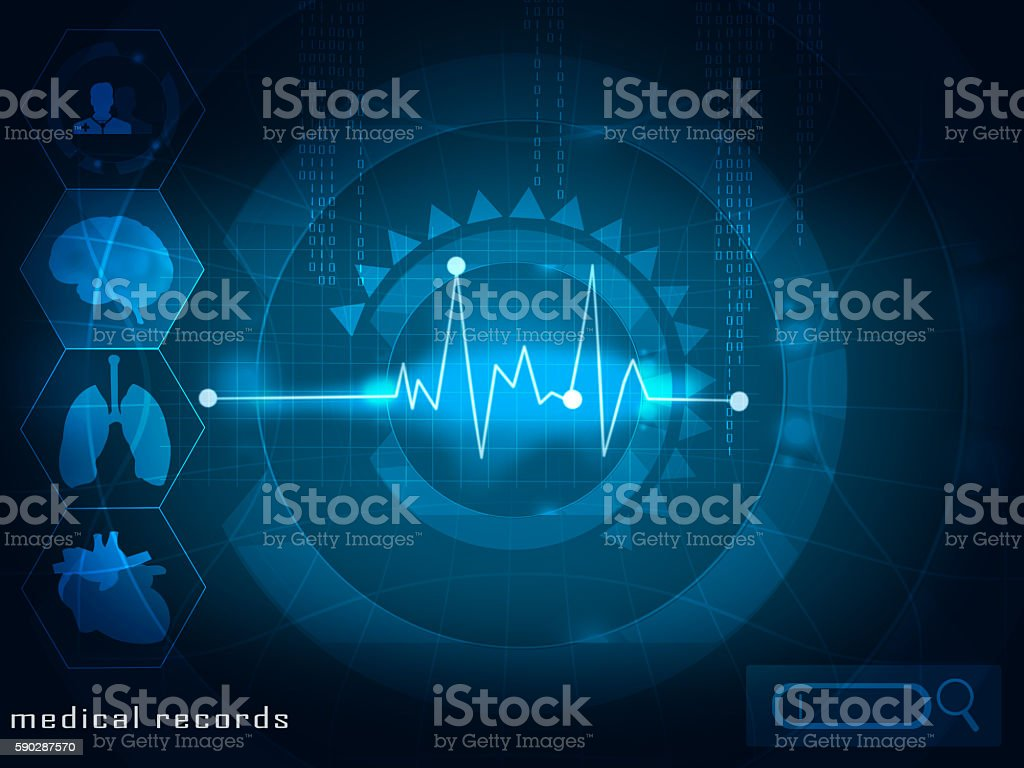 electronic medical records stock photo