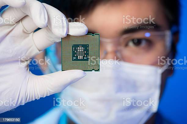 Electronic Microchip Stock Photo - Download Image Now