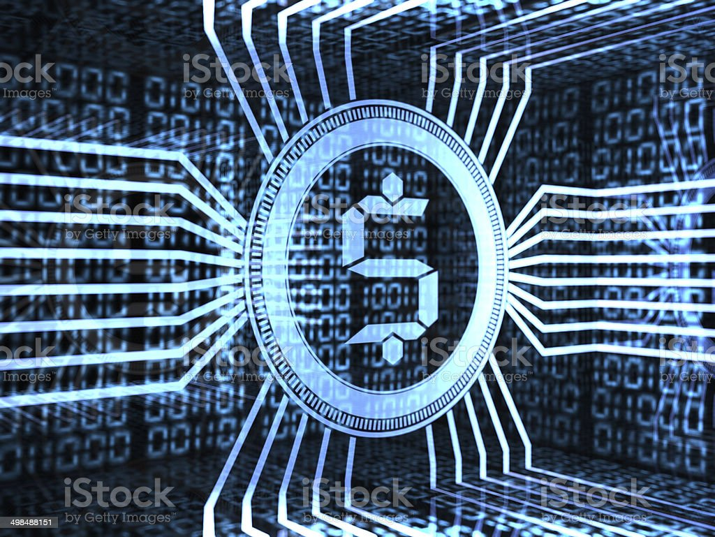 electronic money stock photo