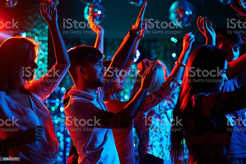 Electronic music festival stock photo