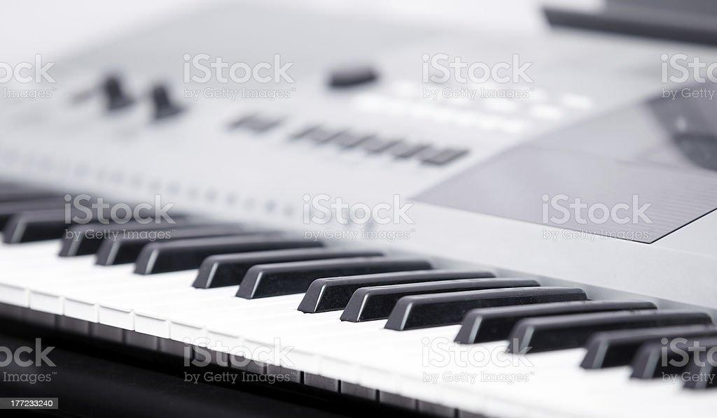 Electronic music instrument stock photo