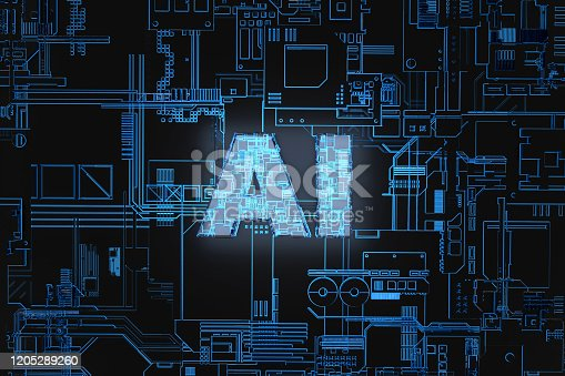 1145585734 istock photo Electronic network technology, data transmission and storage,AI circuit boards 1205289260