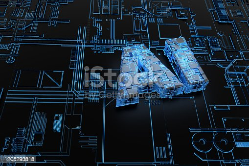 1145585734 istock photo Electronic network technology, data transmission and storage,AI circuit boards 1205293818