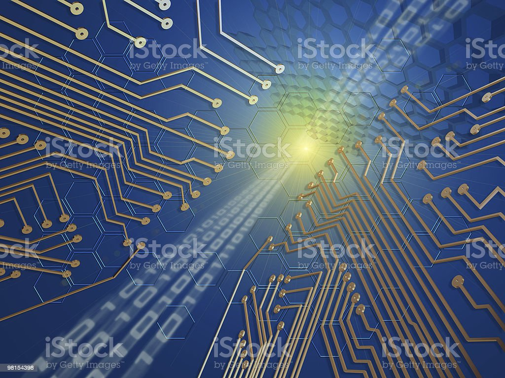 Electronic Networking Concept royalty-free stock photo