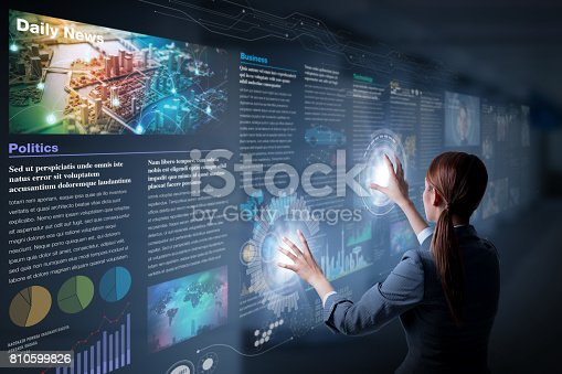 istock electronic newspaper concept, curation media, curation content, Graphical User Interface, abstract image visual 810599826