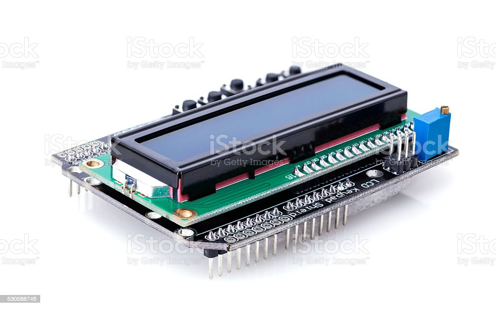electronic parts closeup stock photo