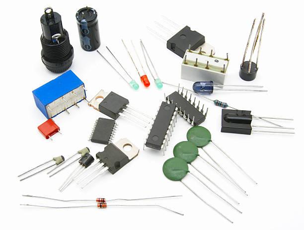 Electronic parts stock photo