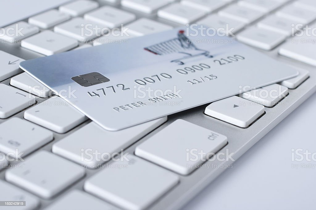 Electronic payment concept and e-banking stock photo