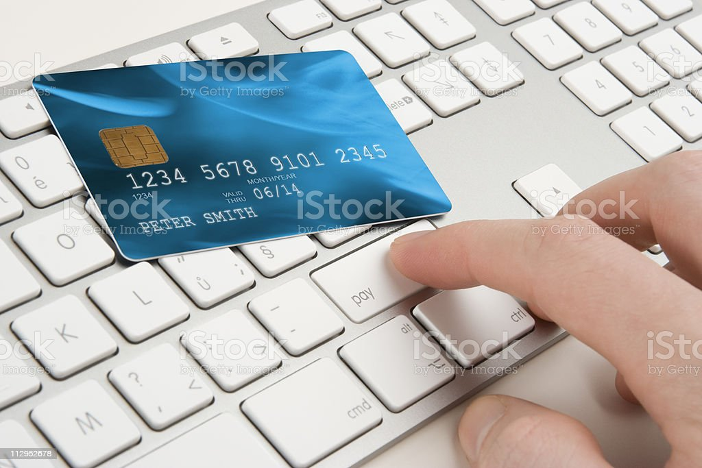Electronic payment concept stock photo
