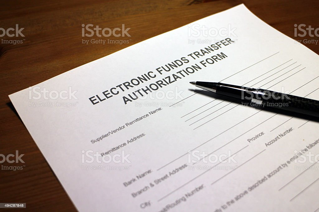 Electronic Payment Remittance Form stock photo