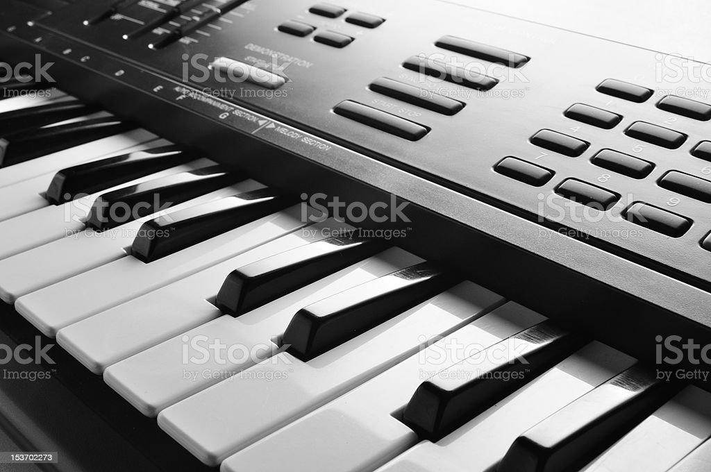 electronic piano keyboard close up royalty-free stock photo