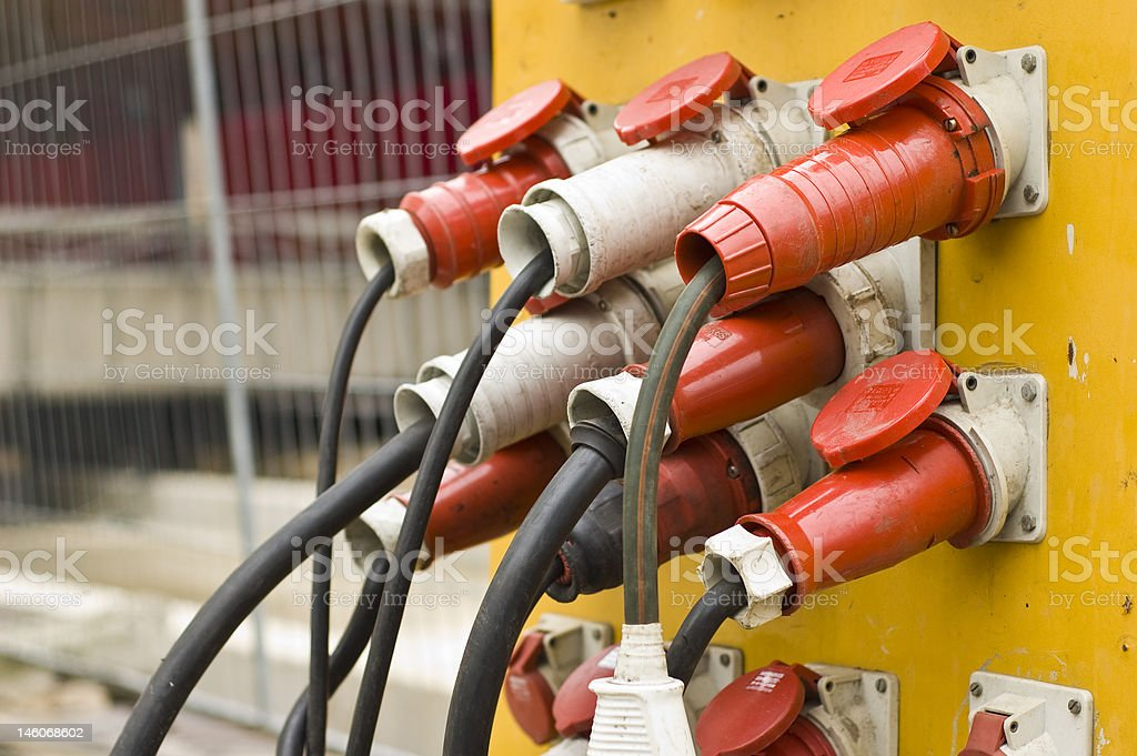 electronic power cables royalty-free stock photo