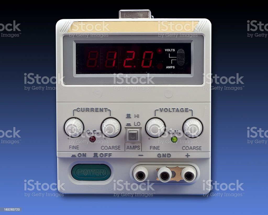 electronic power supply with clipping path royalty-free stock photo