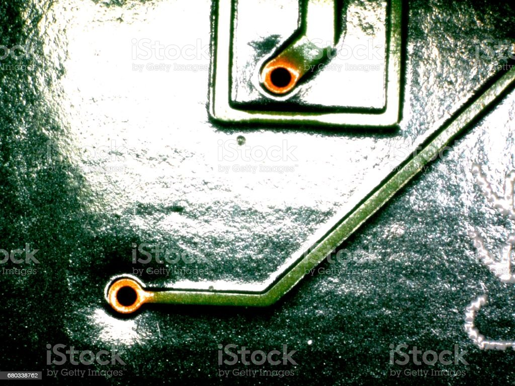 Electronic Printed Circuit Board With Many Electrical Components Detail Of An Royalty Free Stock Photo