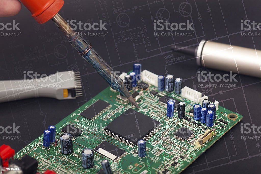 Electronic reparation stock photo