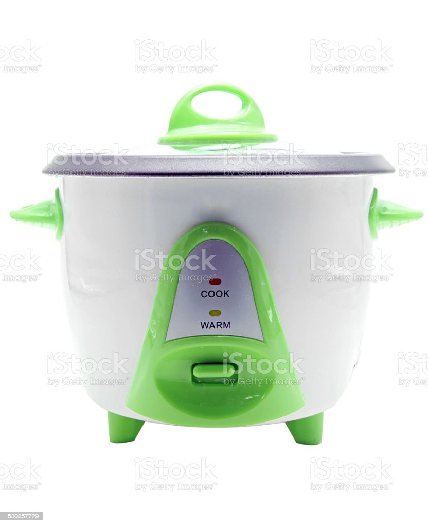 electronic rice cooker stock photo