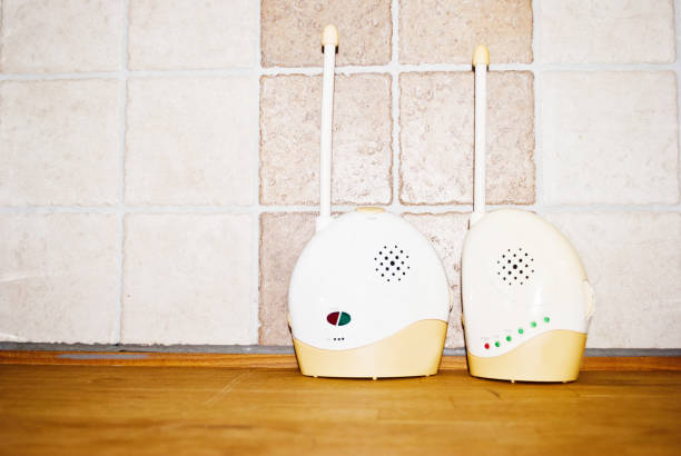 Electronic Safety Device: Two Nanny Monitors stock photo