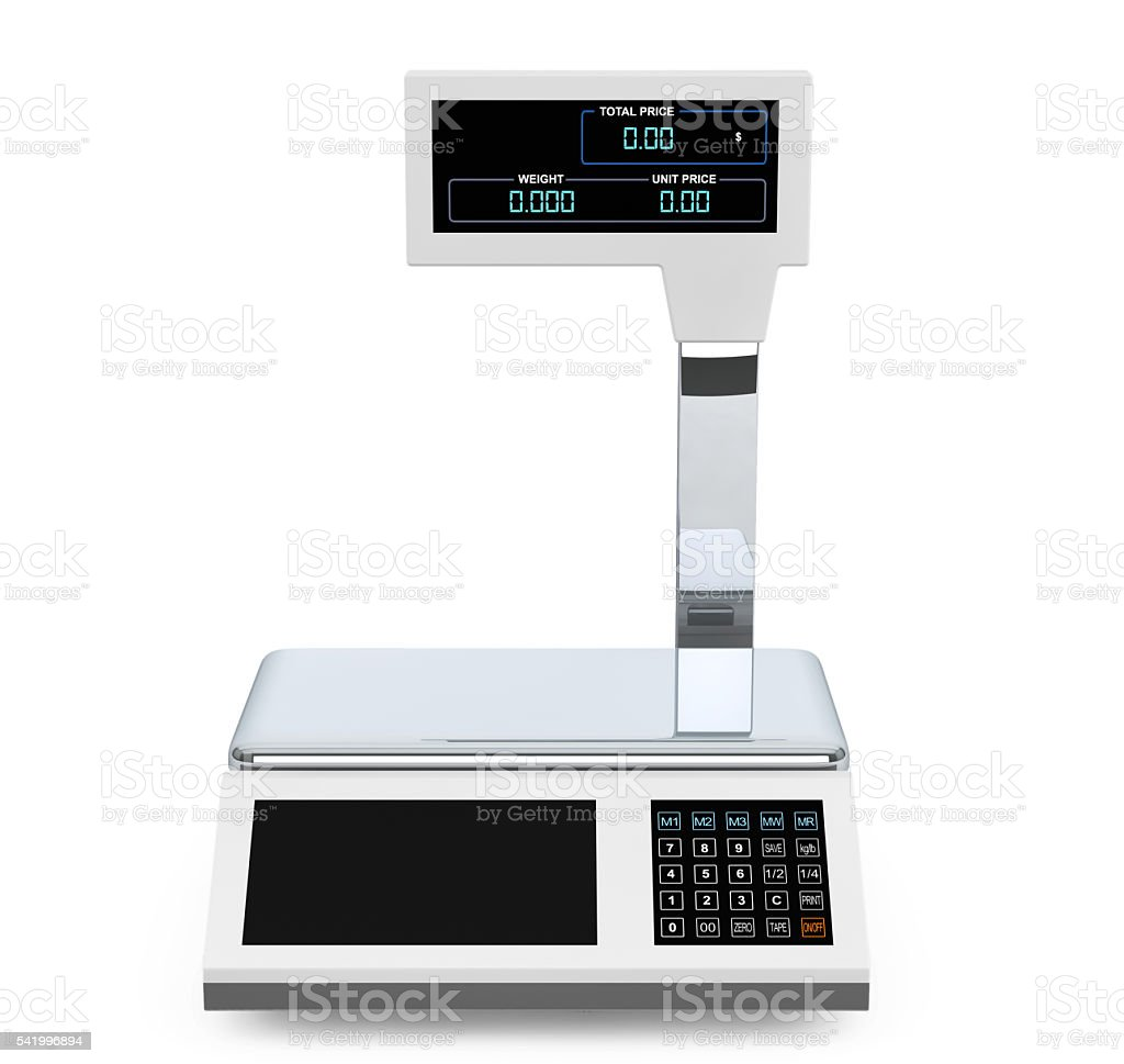 Electronic Scales for weighing Food. 3d Rendering - foto de stock