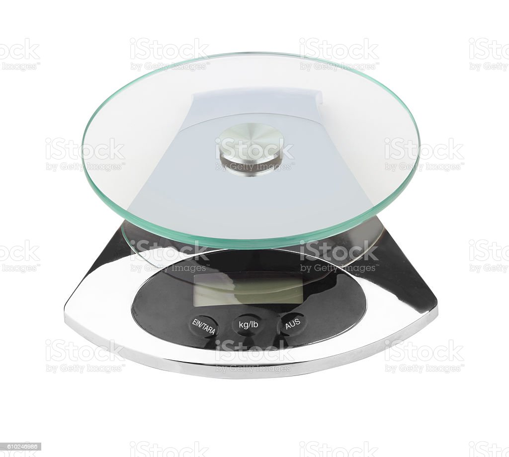 electronic scales isolated - foto de stock