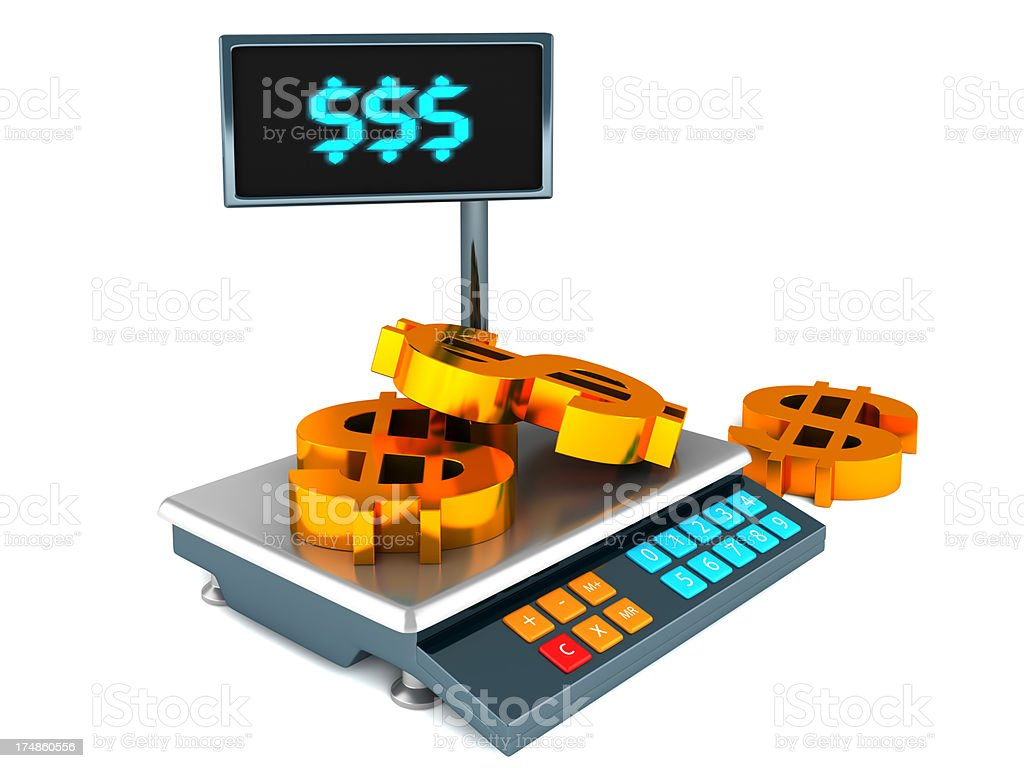 Balanza electrónica - foto de stock