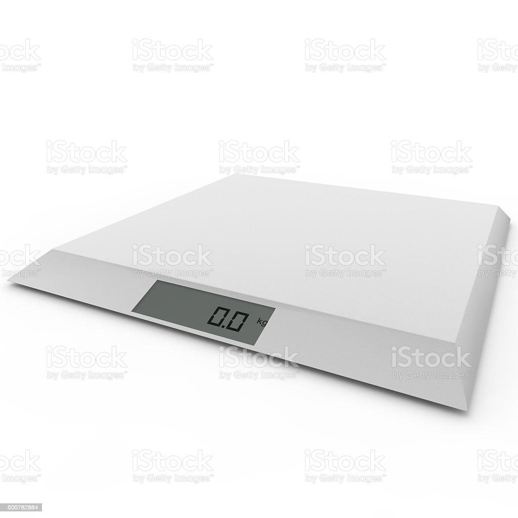 Balanza electrónica mostrar cero kilogramos - foto de stock