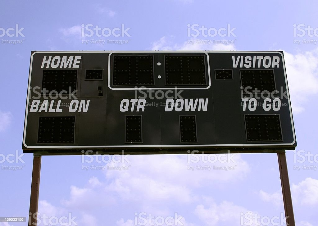 Electronic Scoreboard royalty-free stock photo