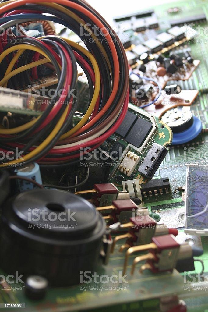 Electronic Scrap royalty-free stock photo