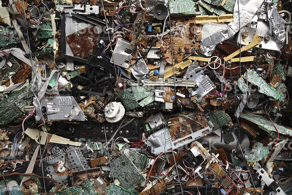 Electronic Scrap stock photo