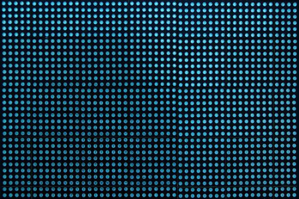led elektronischen bildschirm - tupfen wände stock-fotos und bilder