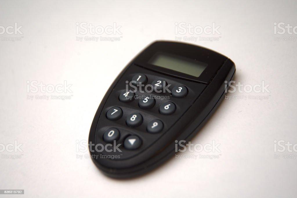 Electronic  Security Key stock photo