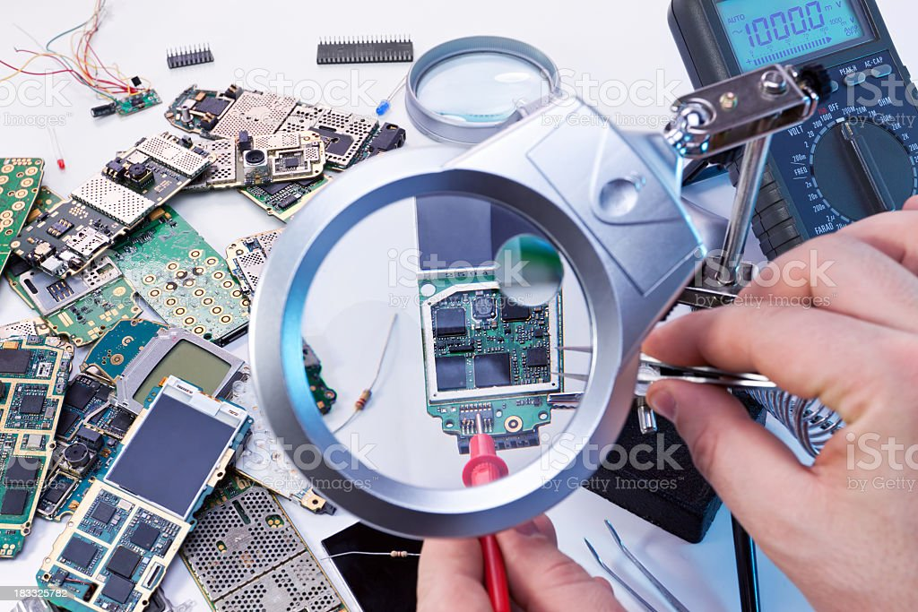 Electronic service royalty-free stock photo