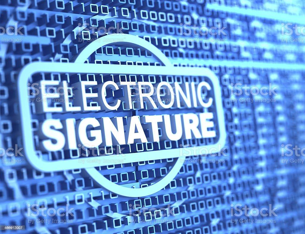 electronic signature stock photo