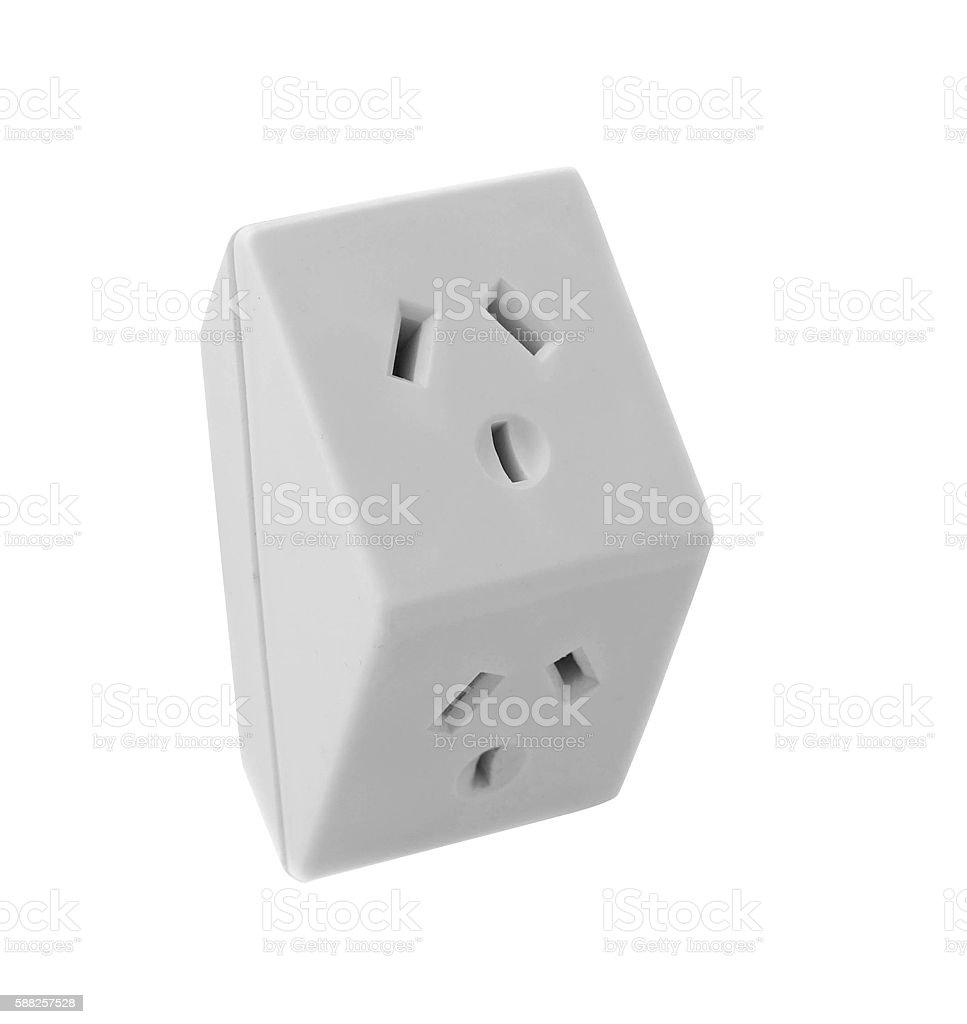 Electronic socket stock photo