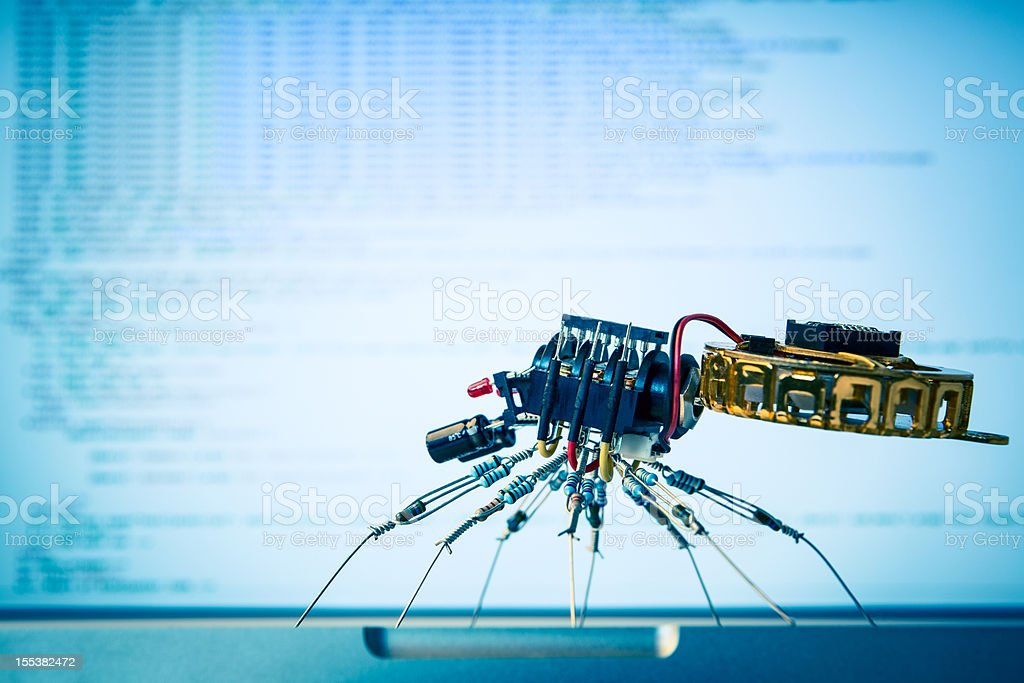 Electronic Spider html search stock photo