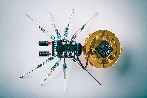 Electronic Spider stock photo