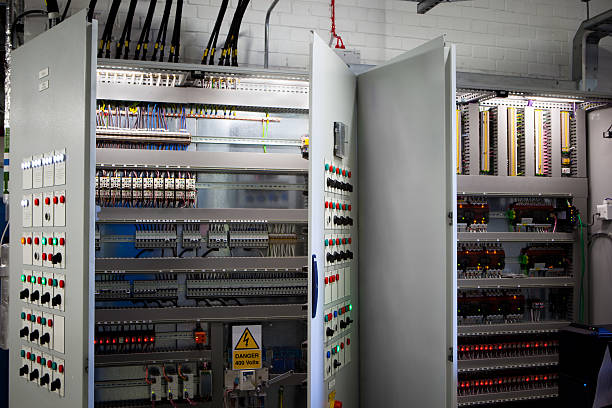 electronic systems cabinet - fuse box stock photos and pictures