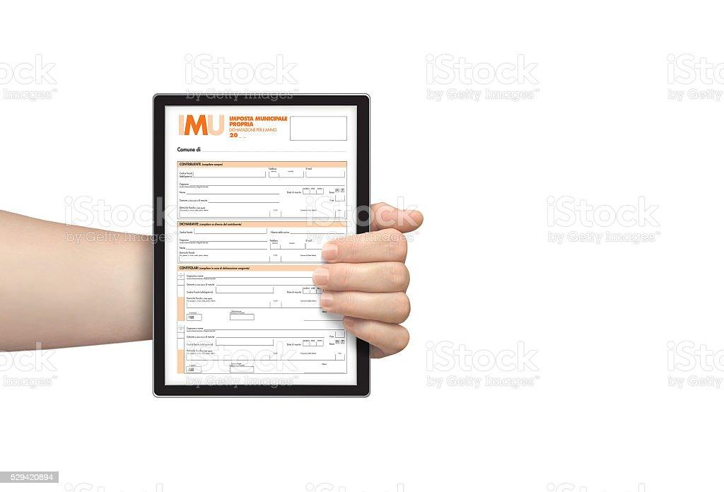Modulo fiscale IMU elettronica foto stock royalty-free