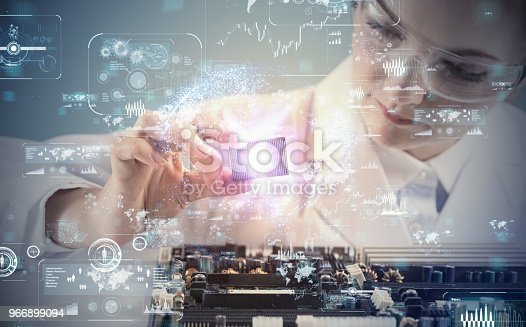 istock Electronic technology concept. 966899094