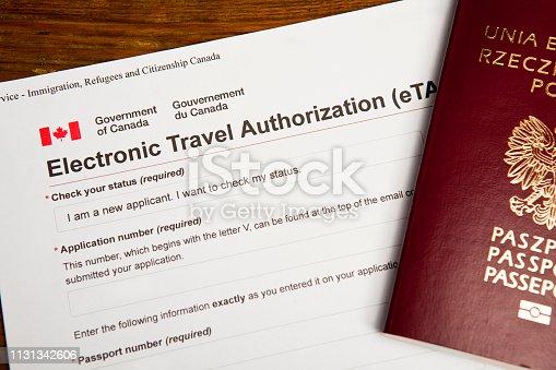 Electronic Travel Autohorization eTA to Canada, Polish Passport - elektroniczne zezwolenie na podróż do Kanady