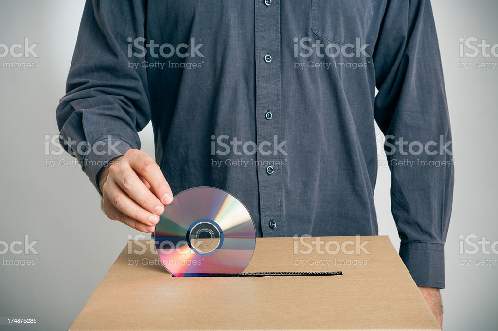 electronic voting, the wrong way royalty-free stock photo