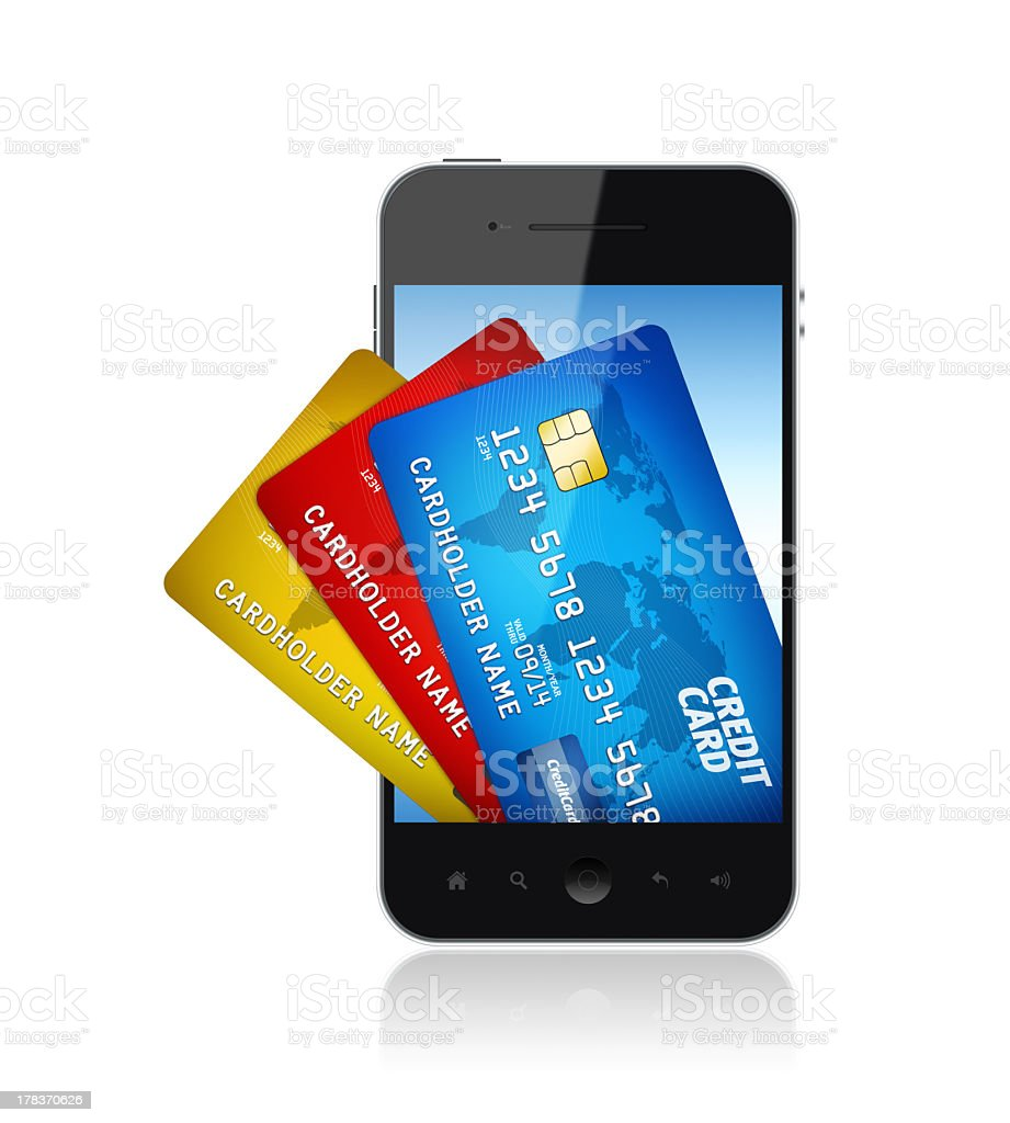 Electronic Wallet Concept royalty-free stock photo