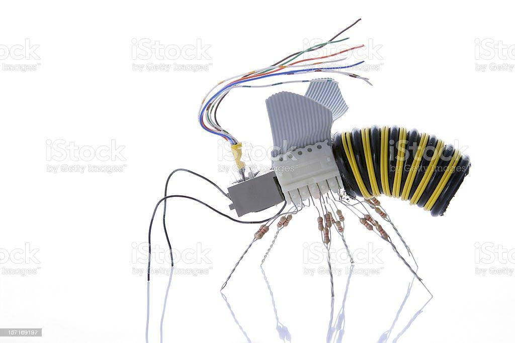 Electronic  Wasp [profile] royalty-free stock photo