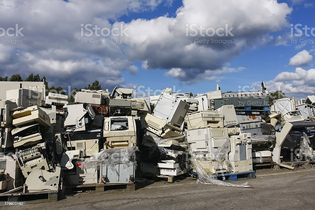 Electronic waste for recycling royalty-free stock photo