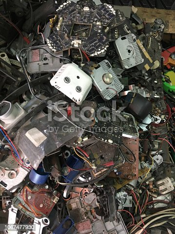 istock Electronic waste from discarded drone crash 1067477930