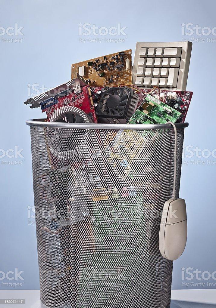 Electronic waste royalty-free stock photo