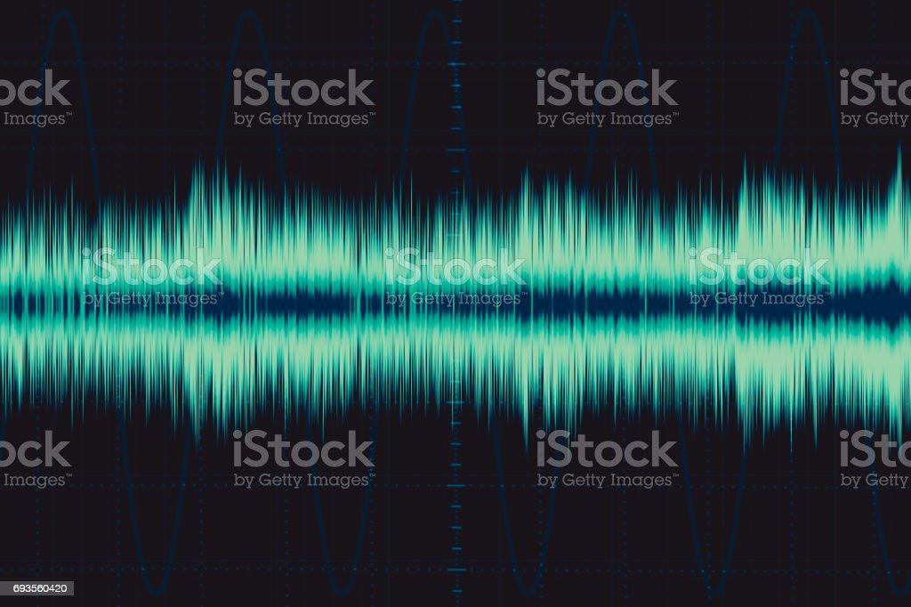 Onda Electrónica Onda De Frecuencia De Sonido Osciloscopio La Señal ...