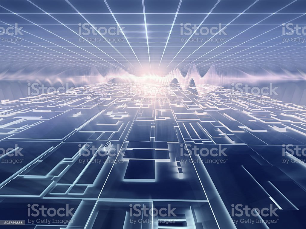 electronic world - futuristic background stock photo