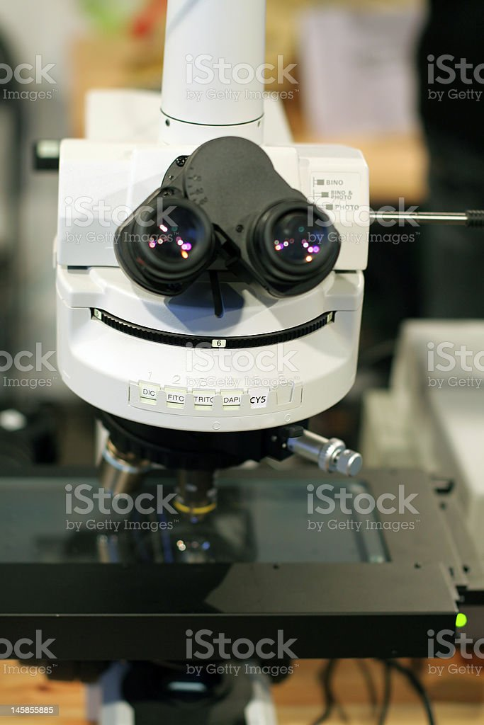 Electronical microscope royalty-free stock photo