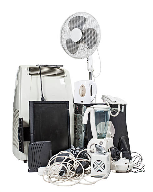 Electronics and appliances recycling stock photo